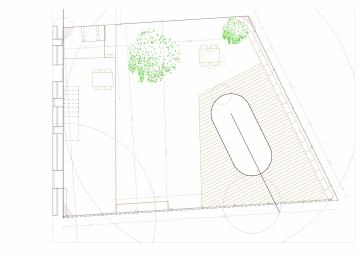 05 RUE GARDERE 0617-Plan jardin - piscine